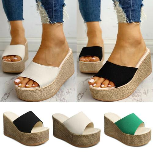 womens wedge sandals high heels platform espadrille