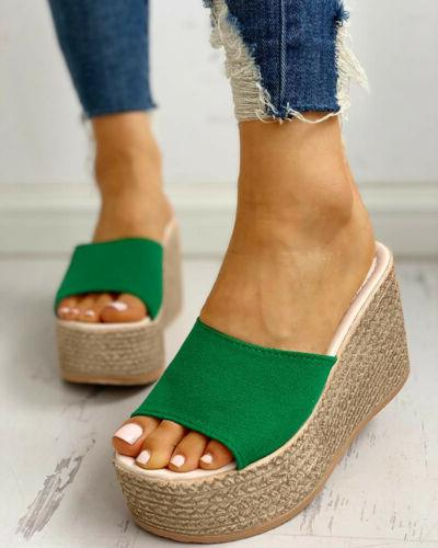 WOMENS HEELS ESPADRILLE SUMMER SHOES
