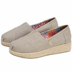 ladies bobs wedge canvas taupe free shipping