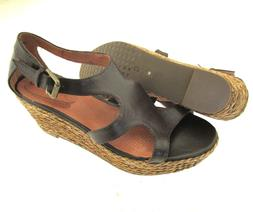 Corso Como Leather Upper Espadrille Wedge Heel Adjustable An