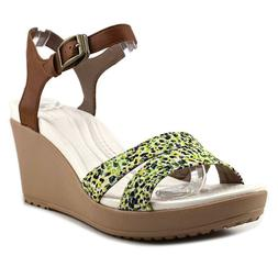 Crocs Leigh II Ankle Strap Women, Multi Color Wedge Sandal,