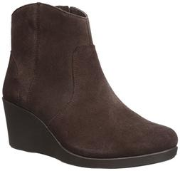 crocs Women's Leigh Suede Wedge Boot, Espresso, 6 UK