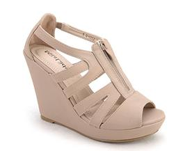 Mila Lady Lisa 5 Strappy Open Toe Platform Wedges Heeled San