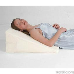 """Luxury - 12"""" Foam Bed Wedge Pillow w/Cover - Free Shipping"""