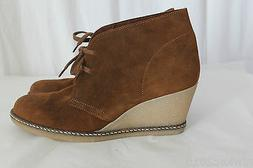 J CREW MACALISTER WEDGE BOOT WARM REDWOOD SIZE 11