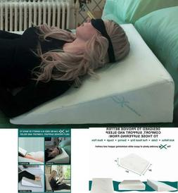 Memory Foam Bed Wedge Pillow Hypoallergenic Breathable Washa