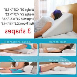 Memory Foam Pillow Bed Cushion Back Lumbar Pillow Wedge Trap