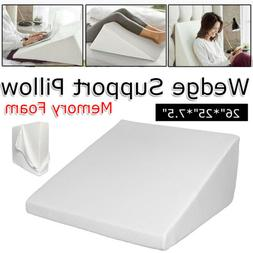 Memory Foam Wedge Pillow Back Support for Sleeping Reading w