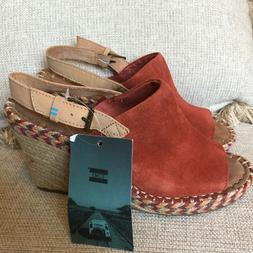 TOMS Monica Spice Color Wedge Slingback, NEW with tag, women