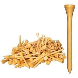 """New 250 Bamboo Golf Tees 7x Stronger than Wood 2-3/4"""" Height"""