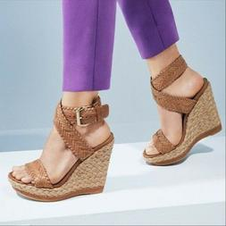 new 429 elixir espadrille wedge sandal shoes