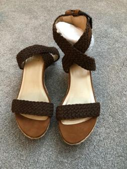 NEW Stuart Weitzman Alexlo Alex Lo Espadrilles Wedge Sandals