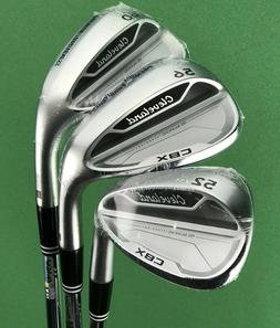 NEW Cleveland CBX Wedge Set 52-11, 56-12, 60-10 Steel GW SW