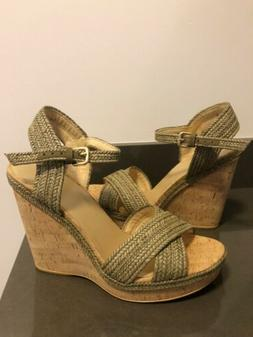 NEW Stuart Weitzman Cork Wedge Sandals Minx Size 9
