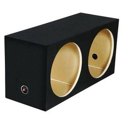 "NEW DUAL 10"" MDF Subwoofer Cabinet Box.Sealed Bass Speaker E"