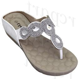New girl's kids wedge sandals white t strap casual open toe