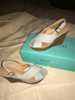 new gray wedges shoes heels beverly size