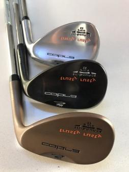 New LH Cobra Trusty Rusty Wedge Set 51/55/61. GW SW LW Gap S