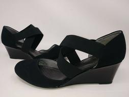 NEW! Life Stride Women's Darcy Heels Black Crisscross Straps