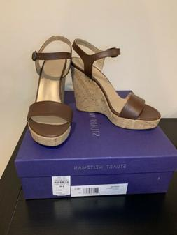 3117fadc34b37 NEW Stuart Weitzman MarryMe Wedge Sandals Size 6.5