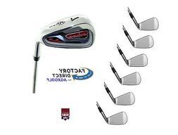 NEW MEN'S PULSE PRO IRONS SET wSTEEL SHAFTS 5,6,7,8,9+PITCHI