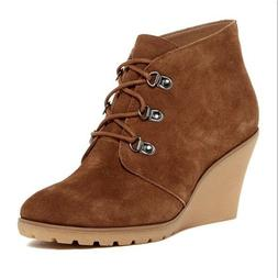 NEW Susina Rawlin Rust Suede Wedge Bootie, Women Size 11, $8