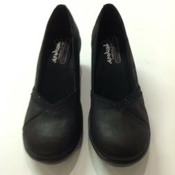 NEW!  SKECHERS Rumblers Black Wedge Woman's Shoes -Size 9