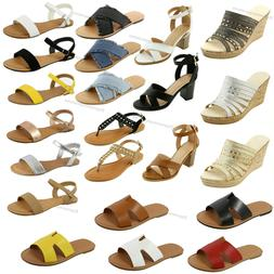 New Sandals Gladiator Slip On Shoes Thong Flip Flops Strappy