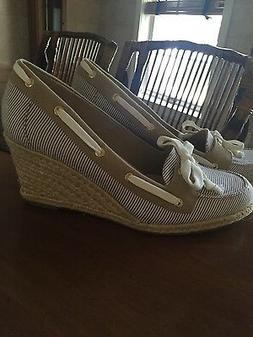 New Sperry Top-Sider Clarens Size 9 1/2 10 Engineer Wedges W