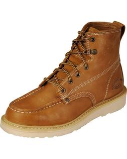 New Dickies Trader Wedge Bottom Work Boots Tan Iron Worker S