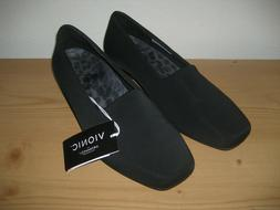 New VIONIC Treat Powell Low Wedge Slip On Comfort Shoes Blac