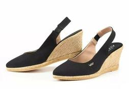 New Viscata Espadrilles Wedges Lloret Slingback Black - EUR