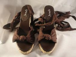 NEW Qupid Women's Brown Wedges Size 6 1/2