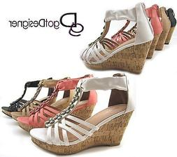 NEW Women's Fashion Dress Shoes Wedges Platforms Dress High