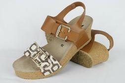 New Mephisto Women's Lissandra Wedge Sandals Size 39/9 Camel