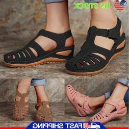 New Women Sandals Ladies Gladiator Wedge Heels Holiday Casua