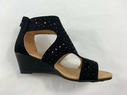 New women strappy gladiator wedge. platform heel zipper sand