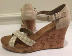 New TOMS Womens Wedge Sandals Size 11 Wedge ~ No Box Strappy