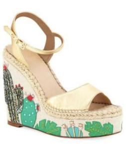 new york dallas cactus wedge espadrille platform