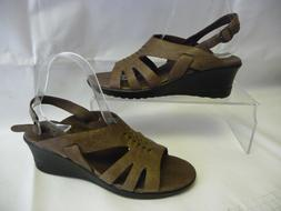 NWOT KEEN Womens Wedge Sandals 8.5 39 Brown Leather Rubber S