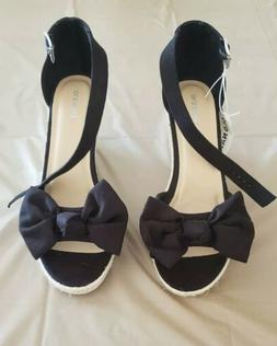 OLD NAVY NWT SUEDE BOW-TIE ESPADRILLE WEDGES FOR WOMEN SIZE