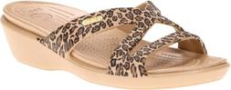 crocs Women's Patricia II Sandal,Gold/Black,11 M US