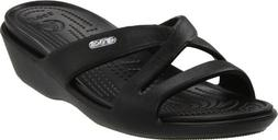 Crocs Women's Patricia II Wedge Sandal,Black/Black,9 M US