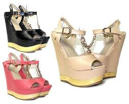 "PD-Fz-33 Fashion Wedges Party Prom Stylish 6"" High Heel 2"" P"