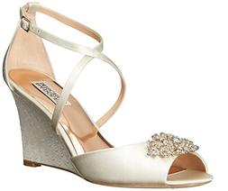 Women's Badgley Mischka 'Abigail' Peep Toe Wedge, Size 7.5 M
