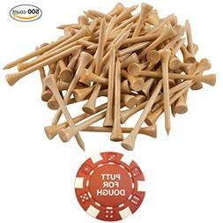 PGA Approved Professional Bamboo Golf Tees 2-3/4 Inch - FREE