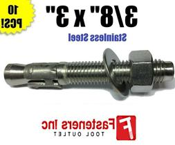 "3/8"" x 3"" Concrete Wedge Anchor Stainless Steel Grade 304"