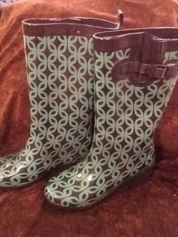 Capelli Rain Boots Women's Size 7 Wedge Heel NEW No Box