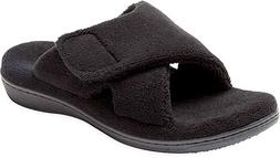 ORTHAHEEL Women's Relax Slipper, Black Terry, 8.0 M