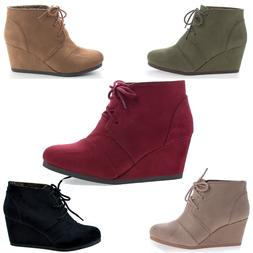 rex lace up oxford ankle bootie round